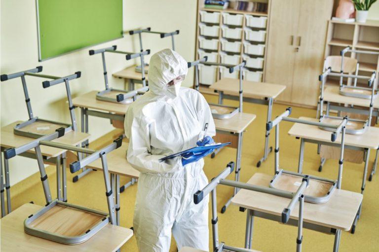 limpieza en colegios
